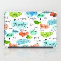 Family - Watercolor iPad Case