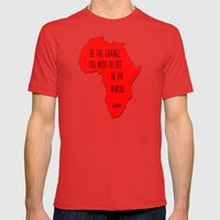Gandhi Mens Fitted Tee Red SMALL