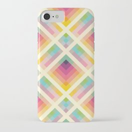 Clear iPhone Case - Retro Rainbow - Fimbis