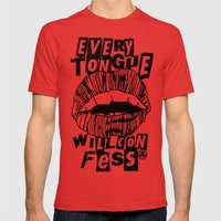 EVERY TONGUE CONFESS Mens Fitted Tee Red SMALL