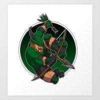 Robin Hood Roller Derby logo Art Print