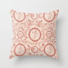 Toile de Jouy (persephone) Throw Pillow