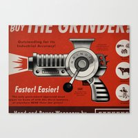 The Grinder (Ad) Canvas Print
