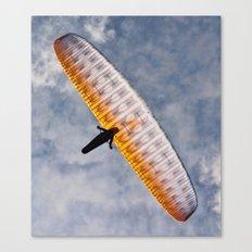 Sunlit Paraglider Canvas Print