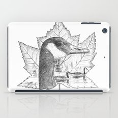 Canada Goose on Maple Leaf iPad Case