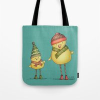 Two Chicks Tote Bag