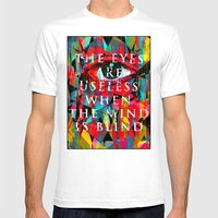 Useless Eyes Mens Fitted Tee White SMALL