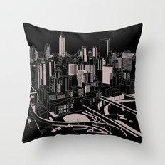 New York Black and White Throw Pillow