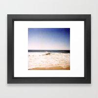 New York Summer At The B… Framed Art Print