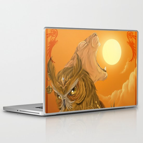 Solar owls -sun  Laptop & iPad Skin