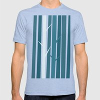 Blue Wood Mens Fitted Tee Tri-Blue SMALL