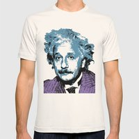 Blue Einstein Mens Fitted Tee Natural SMALL