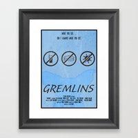 GREMLINS Framed Art Print
