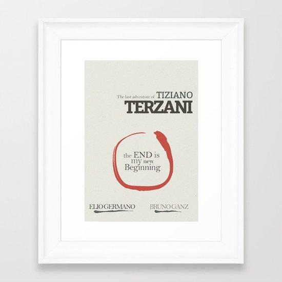 Tiziano Terzani - La fine è il mio inizio - Movie Poster Framed Art Print