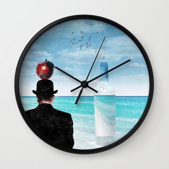 René at the beach Wall Clock