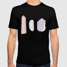 Crystals Trio Mens Fitted Tee Black SMALL