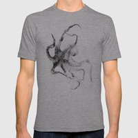 Octopus Mens Fitted Tee Athletic Grey SMALL