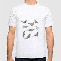 birds Mens Fitted Tee Ash Grey SMALL