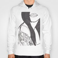 Girl With a Mermaid Tattoo Hoody
