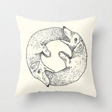 Dog Eat Dog Throw Pillow