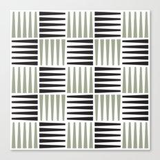 B/W crosshatch pattern Canvas Print