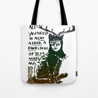 Hipster Cat Giving Smart… Tote Bag