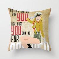 Long Live The Queen  Throw Pillow