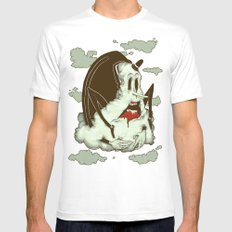 Creep Cloud Face Melt SMALL White Mens Fitted Tee