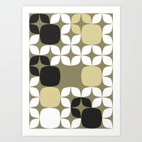 Deco Blocks Art Print