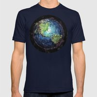 Earth And Space Mens Fitted Tee Navy SMALL