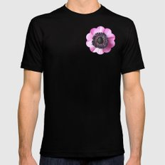 Hello Spring - The Heart of a Anemone  Mens Fitted Tee Black SMALL