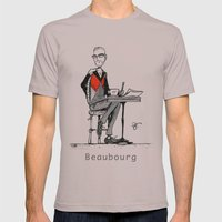 A Few Parisians: Beaubourg by David Cessac Mens Fitted Tee Cinder SMALL