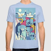The Life Acquatic with Steve Zissou Mens Fitted Tee Tri-Blue SMALL