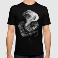 The Giant Snake Mens Fitted Tee Black SMALL