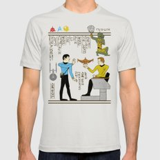 Hero-glyphics: Prime Directive Mens Fitted Tee Silver SMALL