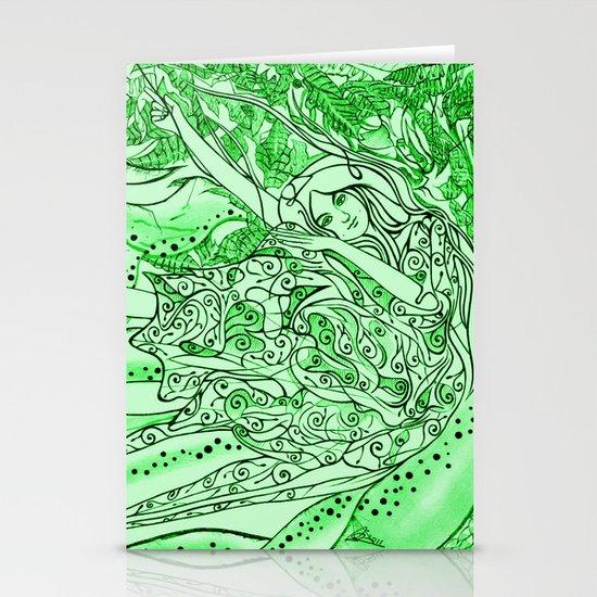 Secret Garden / Original A4 Illustration / Pen & Ink Stationery Card