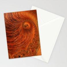 Orange Lily Fractal Stationery Cards