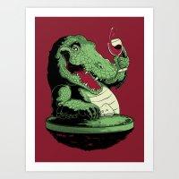 Party Croc Art Print