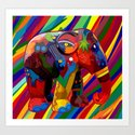 Full color abstract Elephant iPhone 4 4s 5 5c 6, pillow case, mugs and tshirt Art Print