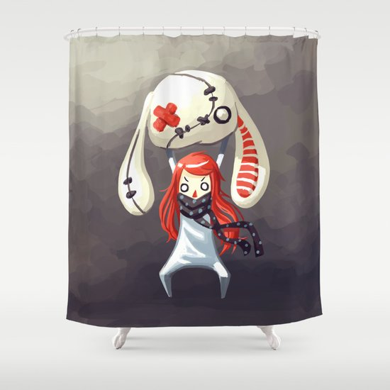 Bunny Plush Shower Curtain