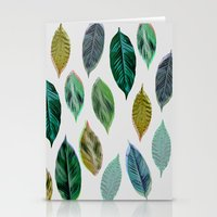 Green Leaves 2 Stationery Cards
