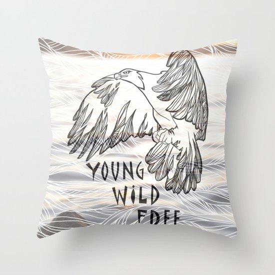 Young Wild Free Throw Pillow