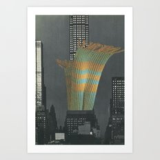 Urban Fiber Art Print
