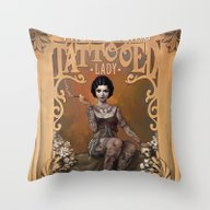 The Amazing Tattooed Lad… Throw Pillow