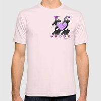 Puppytooth Love Mens Fitted Tee Light Pink SMALL