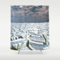 Fragmented Landscape Shower Curtain