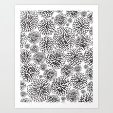FLOWERY FLOWERS Art Print
