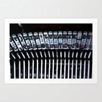 Vintage Typewriter Art Print