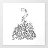 Pile of Rabbits Canvas Print
