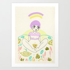 Pizza Slut Art Print